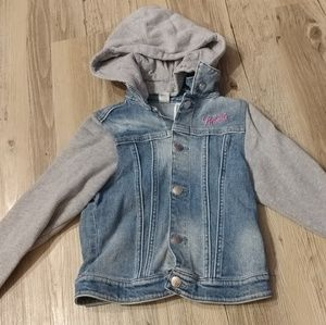 Minnie mouse denim jacket girl 6 7 h&m
